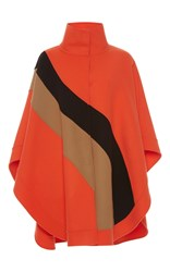 Emilio Pucci Cashmere Wool Cape Orange