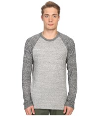Billy Reid Jersey Roll Crew Grey Men's Sweater Gray