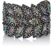 Chamak By Priya Kakkar Danette Feather Cuff Black