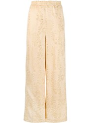 Forte Forte Gold Tone Embroidered Trousers Neutrals