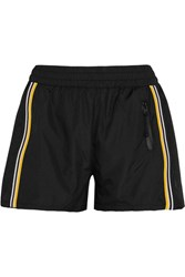 P.E Nation On The Attack Striped Mesh Paneled Shell Shorts Black