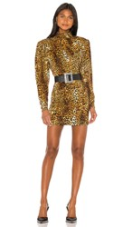 Torn By Ronny Kobo Adina Dress In Brown. Taupe Multi
