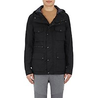Belstaff Men's Waxed Cotton Hooded Lightweight Jacket Black Blue Black Blue