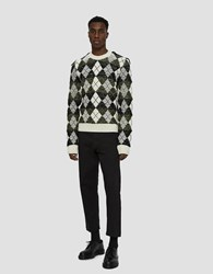 J.W.Anderson Structured Argyle Sweater Off White