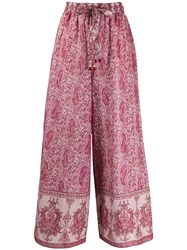 Zimmermann Paisley Trousers Pink