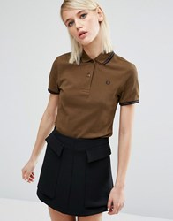 Fred Perry Twin Tipped Polo Shirt Moss Green