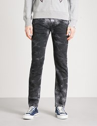 A Bathing Ape Faded Slim Fit Tapered Jeans Black