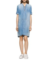 Calvin Klein Jeans Lace Up Faded Shirtdress Tarvn