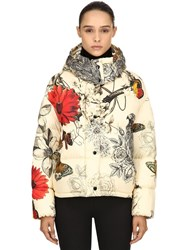Moncler Caille Printed Nylon Down Jacket Multicolor