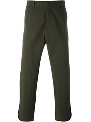 Ports 1961 Cropped Trousers Green