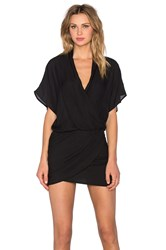 Mason By Michelle Mason Wrap Mini Dress Black