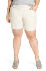 Jag Jeans Plus Size Women's Ainsley Pull On Shorts Stone