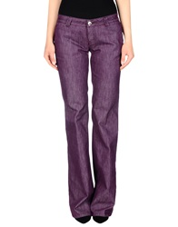 Blu Byblos Denim Pants Purple
