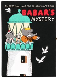 Olympia Le Tan Babar's Mistery Book Clutch Black