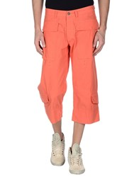 Dekker Trousers 3 4 Length Trousers Men Orange
