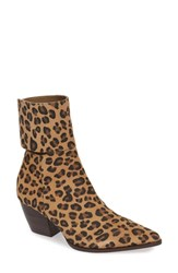 Matisse Good Company Ankle Cuff Bootie Leopard Print Suede