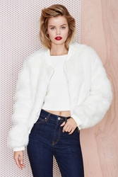 Nasty Gal One Faux All Fur Jacket