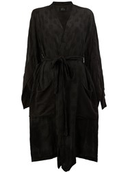 Lost And Found Ria Dunn Asymmetric Belted Coat Black