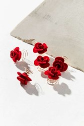 Urban Outfitters Floral Hair Twist Set Red