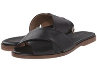 Splendid Baron Black Vintage Leather Women's Slide Shoes