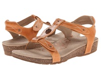 Aetrex Lori Adjustable Quarter Strap Burnt Orange Women's Sandals