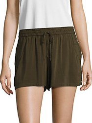 French Connection Drawstring Shorts Wood Green