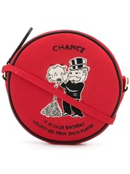 Olympia Le Tan Monopoly Chance Crossbody Bag Red