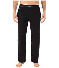 Lacoste Solid Pants Black Men's Pajama
