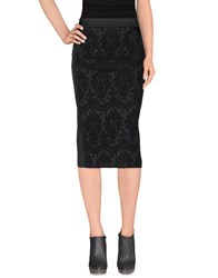 Angelo Marani Skirts 3 4 Length Skirts Women Black