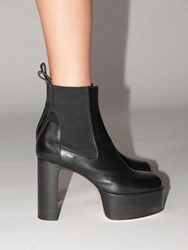 Rick Owens Kiss Leather Boots Black