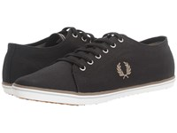 Fred Perry Kingston Twill Black Driftwood Dolphin Men's Lace Up Casual Shoes