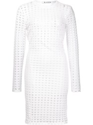 Alexander Wang T By Perforated Dress White