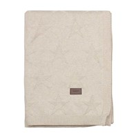 Gant Top Star Knitted Throw Putty