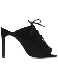 Preen By Thornton Bregazzi Lace Up Mules Black