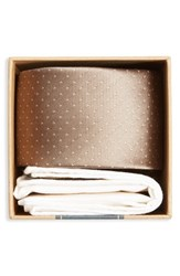 The Tie Bar Men's Dot Silk And Cotton Pocket Square Style Box