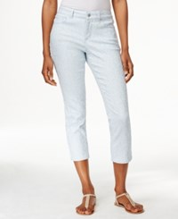 Charter Club Petite Jacquard Print Capri Pants Only At Macy's