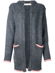Marni Oversized Cardigan Silk Grey