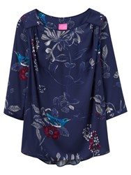 Joules Hope Printed Top French Navy Birdberry