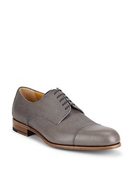 A. Testoni Textured Leather Blucher Shoes Pearl