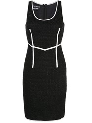 Boutique Moschino Fitted Knee Length Dress Black