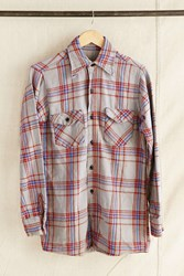 Urban Renewal Vintage Blue Grey Plaid Flannel Shirt Assorted