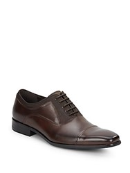 Kenneth Cole Reaction News 2 Canvas And Leather Oxfords Brown