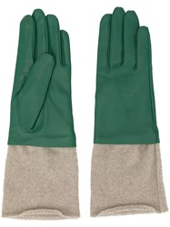 Undercover Knitted Detail Gloves Green
