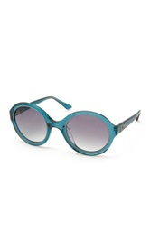 M Missoni Women's Rounded Acetate Frame Sunglasses Blue