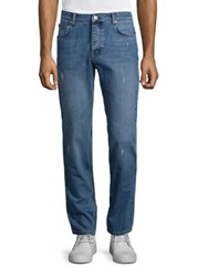 Wesc Eddy Straight Fit Distressed Jean Lightly Distressed