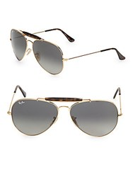 Ray Ban Wooden Bridge Aviators Gold