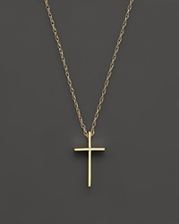 Bloomingdale's 14K Yellow Gold Small Cross Pendant Necklace 18