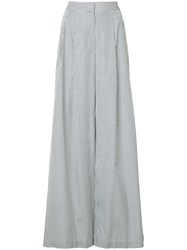 Adam By Adam Lippes Pleated Sides Palazzo Trousers Women Cotton 12 White