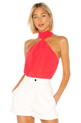 Amanda Uprichard Queens Top Red