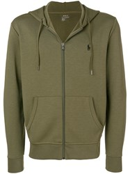 Polo Ralph Lauren Logo Embroidered Hoodie Green